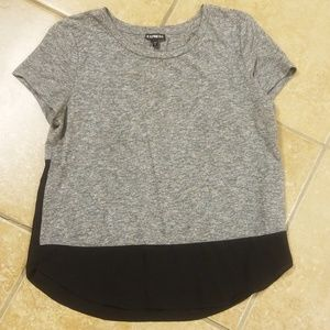 Gray and black T-shirt